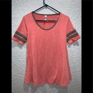 Lularoe Solid Top Red & Gray small